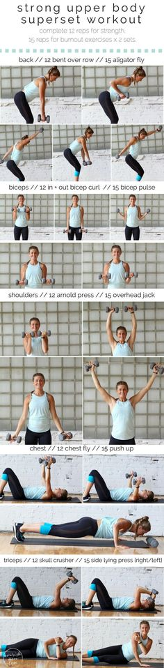 strong upper body superset workout | www.nourishmovelove.com