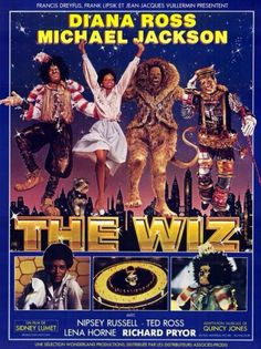 """""""The Wiz"""" Movie Poster. Starring Diana Ross & Michael Jackson, 1978."""