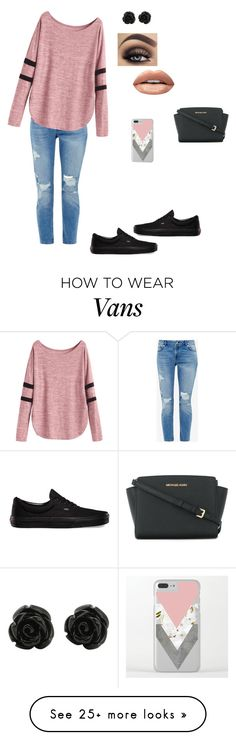 """""""Blush.K"""" by j-r-mcdonald on Polyvore featuring Ted Baker, Vans, Huda Beauty and MICHAEL Michael Kors"""