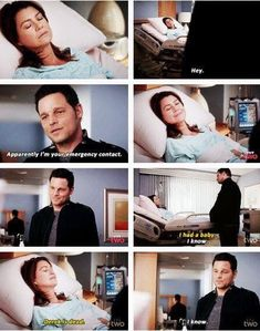 The 'hey' sounded like McDreamy though. Why is no one talking about that? Greys Anatomy Alex, Greys Anatomy Episodes, Greys Anatomy Funny, Grey Anatomy Quotes, Grays Anatomy, Anatomy Humor, Alex And Meredith, Meredith Grey Quotes, Dark And Twisty