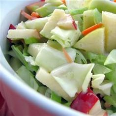 Apple Cole Slaw ~ yummy combo of fruit and veggies in a sweet dressing