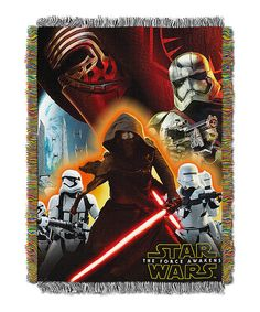 Look at this The Force Awakens Ground Invasion Tapestry Throw on #zulily today!