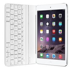 Coque clavier Ultrathin Keyboard Cover Mini de Logitech pour iPad mini - Argent - Apple Store (Belgique)