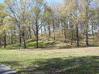 Mound at Poverty Point (1.42 sq miles) comprises several earthworks and mounds built between 1650 and 700 BCE, during the Archaic period in the Americas by a group of Native Americans of the Poverty Point culture. The culture extended 100 miles (160 km) across the Mississippi Delta.