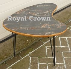 1950's boomerang shaped table  www.royalcrown.nl  SOLD