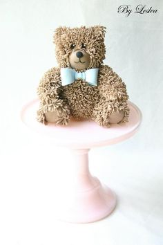 Teddy with blue bow tie...one of my all time favorites...so adorable