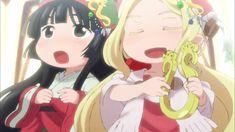 Mikochi y Konju cantando para el pueblo