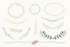 Vector Laurel & Wreath designs by Summit Avenue on Creative Market