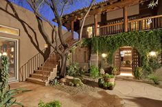 Southwest Interior Courtyard - This is a beautiful example of a two story interior courtyard garden.