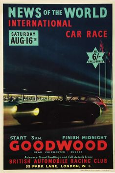 Goodwood Racing Poster 1952