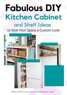 Like many, my kitchen is one of the most utilized parts of my home. It is the center for family gatherings, we often start our mornings with coffee, and ending our evenings with dish clean up. But how do we keep them looking as shiny as the day those cabinets were put in? What happens when we begin to outgrow our kitchens? Turns out, I have found there are plenty of budget-friendly DIY kitchen cabinet ideas to help you deal with common cosmetic and storage issues. #kitchen Diy House Projects, Diy Furniture Projects, Furniture Design, Kitchen Cabinet Shelves, Diy Kitchen Cabinets, Kitchen Trends, Kitchen Ideas, Kitchen Decor, Cheap Home Decor