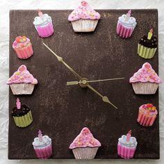 Chocolate Cupcake Clock @Etsy