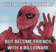 Spidey BFFs Tony Hulk Avengers, Avengers Memes, Marvel Memes, Marvel Dc Comics, Anime Comics, Harry Osborn, Deadpool Movie, Superhero Memes, Nerd Humor