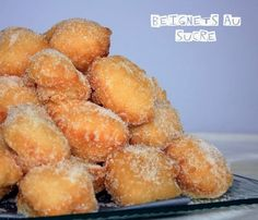 Beignets au sucre - Page 2 sur 2 - France Buzz Herb Recipes, Gourmet Recipes, Sweet Recipes, Snack Recipes, Healthy Recipes, Churros, Croissants, Desserts With Biscuits, Sugar Donut