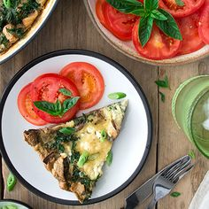 MUSHROOM AND KALE FRITTATA Egg Recipes, Brunch Recipes, Pasta Recipes, Breakfast Recipes, Vegetable Recipes, Vegetarian Recipes, Kale Frittata, School Lunch Recipes, Stuffed Mushrooms
