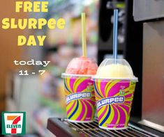 """Did you know that trademarked the phrase """"brain freeze,"""" the searing pain in the cranium when drinking a too fast? Free Slurpee Day, 7 11 Day, Freeze, Drinking, Brain, Breakfast, Food, The Brain, Morning Coffee"""