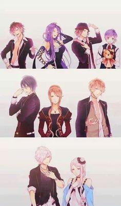 Ayato, Cordelia, Laito & Kanato ~ Reiji, Beatrix & Shu ~ Subaru & Christa