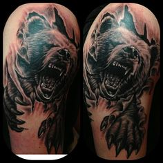 40 Best Roaring Bear Tattoo images | Bear tattoo meaning ...
