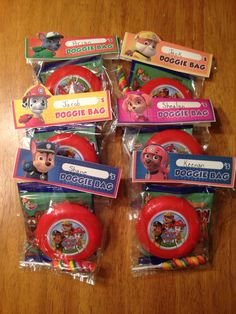 Paw patrol goodie bags Paw Patrol Party Favors, 2nd Birthday Parties, Birthday Ideas, Paw Patrol Birthday, Wedding Favor Bags, Party Bags, Wedding Humor, Goodie Bags, Party Ideas
