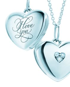 I Love You heart locket in sterling silver, small Tiffany & Co.