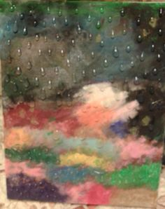 Acrylic Paint; Rainy Garden;M.Dirro