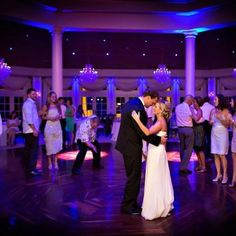 Lighting packages can set the mood  for the reception, and help create dramatic wedding images.