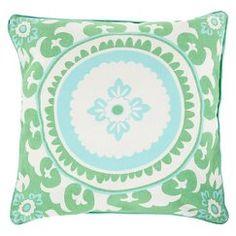 Celestial by Kate Spain Toss Pillow - Emerald