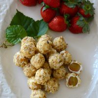 Oh Yes! White Dish Love and Pecan and Goat Cheese Covered Grapes | Home is Where the Boat Is