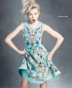 "Ginta Lapina & Fei Fei Sun Star in Neiman Marcus ""Art of Fashion"" Spring 2014 Ads/ Oscar de La Renta"