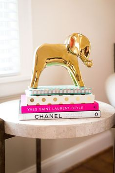 NEW Dwell Studio dwellswtudio Gold Elephant Menagerie Decor Object Sold out Preppy Bedroom, Preppy Dorm Room, Living Room Decor, Bedroom Decor, Console, Gold Rooms, Room Goals, Interior Exterior, Interior Design