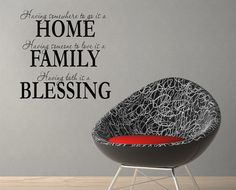 Wall Decal - Home Family Blessing - Wall vinyl sayings - Home Decor