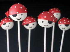 Cake Pops - Pirate Pops. Love the look of these ones