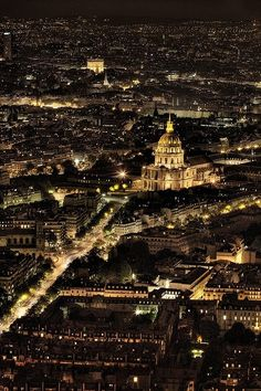 Paris at night, France. Paris France, Oh Paris, France 3, Paris City, Paris At Night, Places To Travel, Places To See, Wonderful Places, Beautiful Places