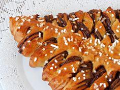 Albero di Natale di Panbrioche alla Nutella