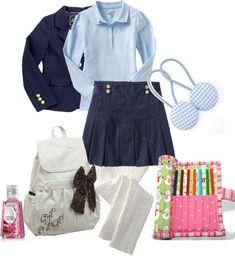 """Little Girl School Uniform"" by reemi53 on Polyvore"