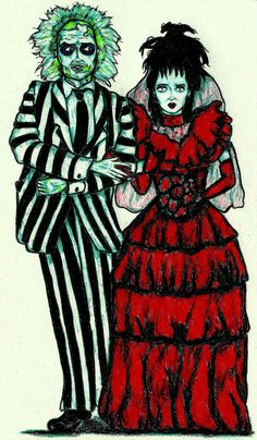 IT'S SHOWTIME!!!!! - Beetlejuice and Lydia Print - Wedding Gift, Tattoo Art… Beetlejuice Wedding, Beetlejuice Tattoo, Lydia Beetlejuice, Wedding Drawing, Wedding Painting, Beatle Juice, Camera Sketches, Tattoo Flash Art, Tattoo Art