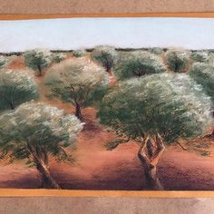 Casa caresol, мы живем в оливковой роще и там правда такая земля #pastels #пастельпро #пастель #нетакоманда