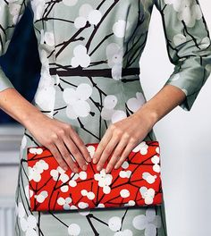 """Marimekko's """"lumimarja"""" (snowberry) print reflects Finland's inspiration in nature. More design from Finland: https://www.youtube.com/watch?v=os1Qdi3axAs"""