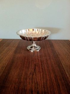 Small Vintage Pedestal Silver Plated Candy Dish by urbancondition, $15.00