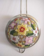 tea-strainer cross-stitch Chris Molesworth