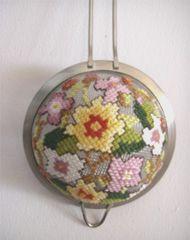 tea-strainer cross-stitch Chris Molesworth