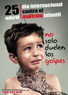 El 25 de abril|Día internacional contra el maltrato infantil|Bilingual poster can be effectively used even in level 1 class