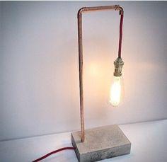 Concrete lamp cooper von NewWorkStyle auf Etsy