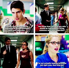 Arrow - Felicity Smoak and Ray Palmer #3.1 #Season3 <3 He will not destroy my love for my babies but god is the banter going to be awesome!!!