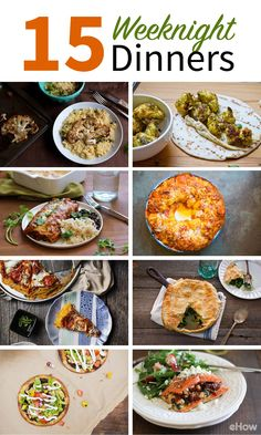 Weeknight dinners made easy with these 15 fast and family-approved meals! From veggie options (Like black bean enchiladas) to monkey pizza bread and stuffed salmon, these are dishes your family will LOVE and can be whipped up fast. Look like a pro chef wi Weigth Watchers, Crockpot Recipes, Cooking Recipes, Healthy Snacks, Healthy Eating, Vegetarian Recipes, Healthy Recipes, Monkey Pizza, Pressure Cooker Recipes