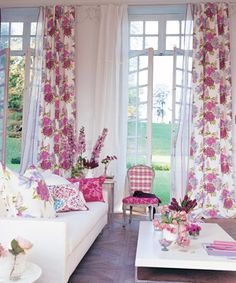 Love this by Designers Guild, just gorgeous floral curtains, so pretty...it feels like Spring!