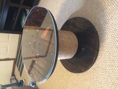 i could get glass and put our bluebonnetpics under it Patio table from an old wire spool!
