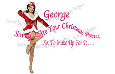 I Ate Your Present Adult Christmas Humor by AnnKayGreetingCards, $5.50