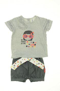 a73754f2b3d1a Short et t-shirt de la marque Sucre d Orge en taille 6 mois - Affairesdeptits  vetement occasion enfant bebe pas cher