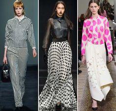Print Trend #13: Polka Dots. Коллекции: Emanuel Ungaro, Maison Rabih Kairouz, Bottega Veneta